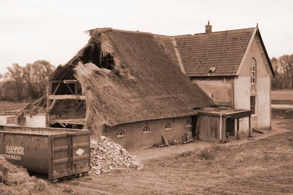 afbraak boerderij Halfvasten